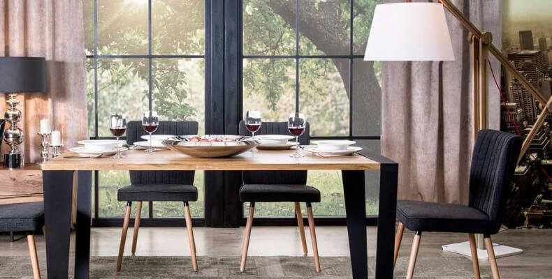 SGW SCHEME stół jadalniany w stylu industrialnym