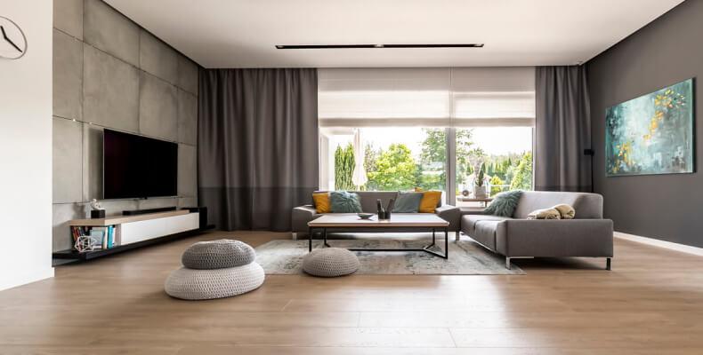 styl loftowy w salonie