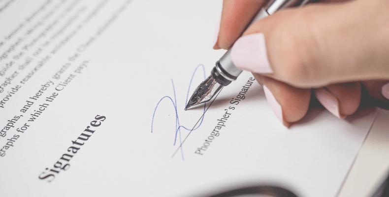 Jak napisać umowę - podpis