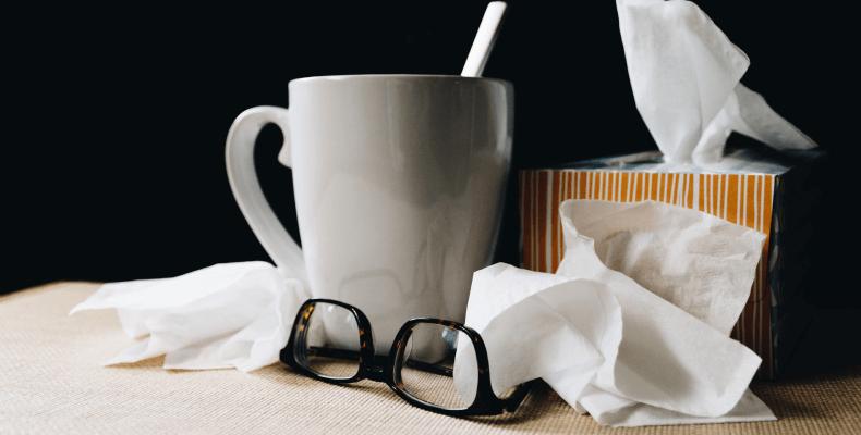 Katar jako objaw alergii