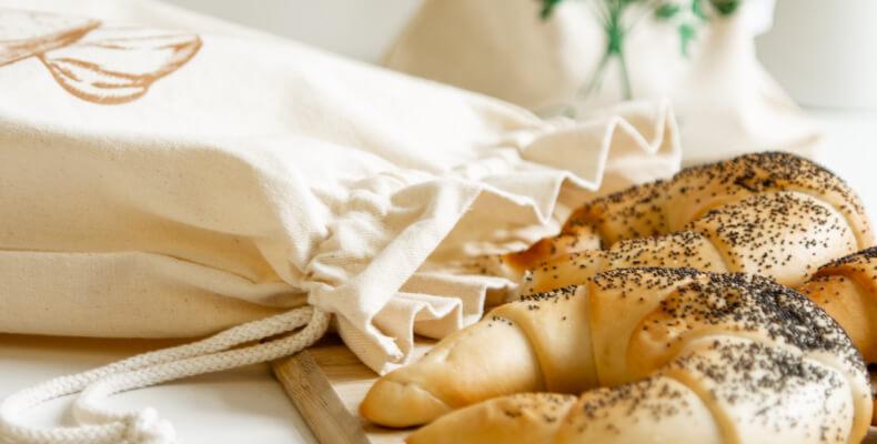 Bawełniane woreczki na pieczywo