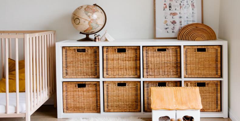 Jak urządzić mały pokój dla dziecka -pokój dziecinny - przechowywanie