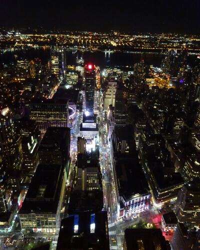Nowy Jork widok nocą